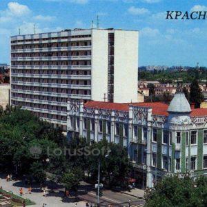 "Здания гостиниц ""Москва"" и ""Кубань"". Краснодар, 1988 год"