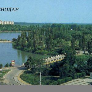 Вид на парк культуры и отдыха им. 40-летия Октября. Краснодар, 1988 год