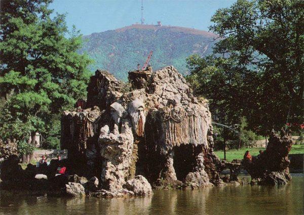 """Фонтан """"Деды"""" в детском парке. Пятигорск, 1988 год"""