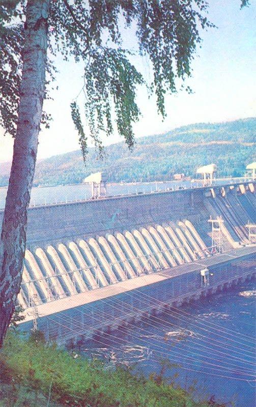 Красноярская ГЭС. Красноярск, 1977 год