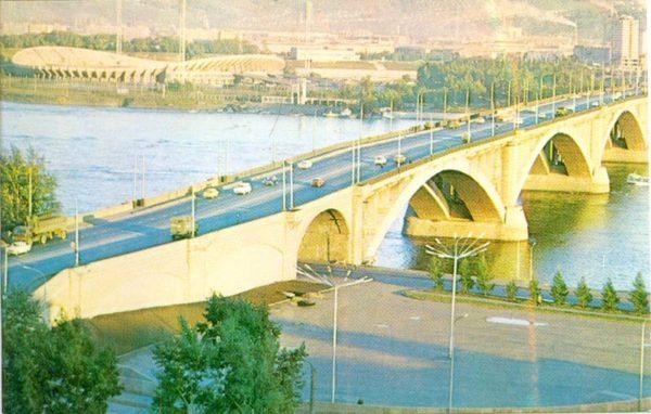 Мост через Енисей. Красноярск, 1977 год