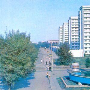Красная площадь.  Красноярск, 1977 год