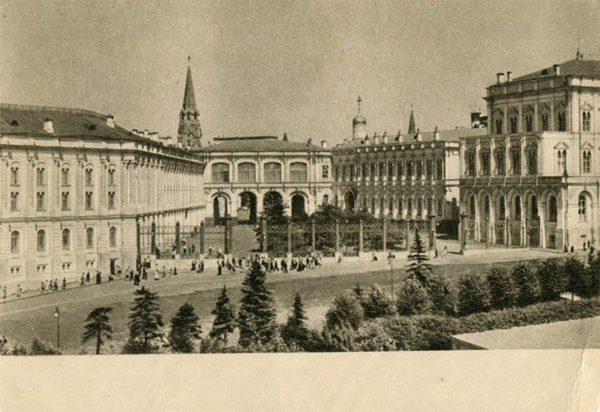 Кремлевская площадь. Москва, 1955 год