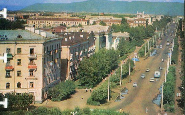 Улица Красногвардейская. Комсомольск-на-Амуре, 1975 год
