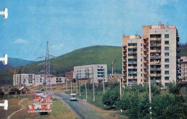 Город спутник Солнечный. Комсомольск-на-Амуре, 1975 год