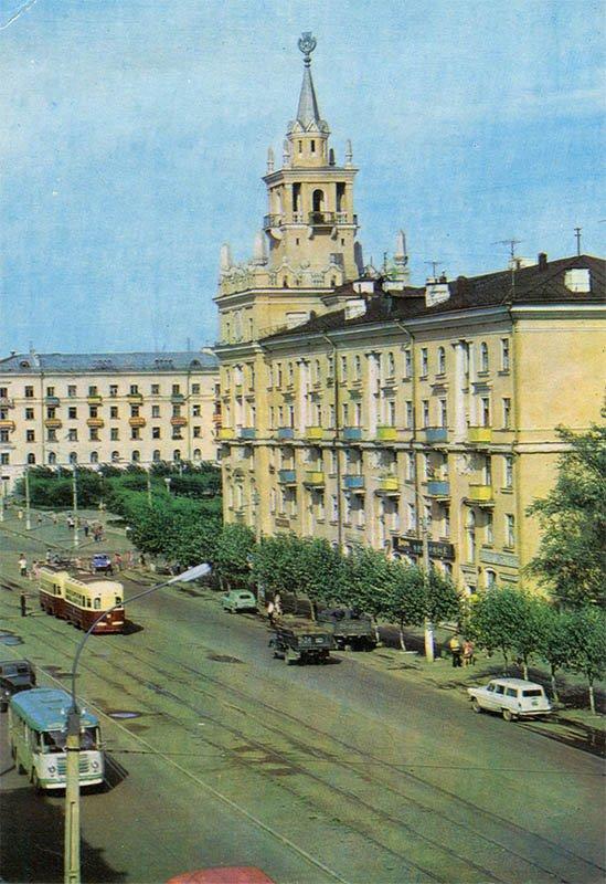 Проспект имени В. И. Ленина. Комсомольск-на-Амуре, 1975 год