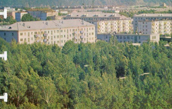 Вид на город. Комсомольск-на-Амуре, 1975 год