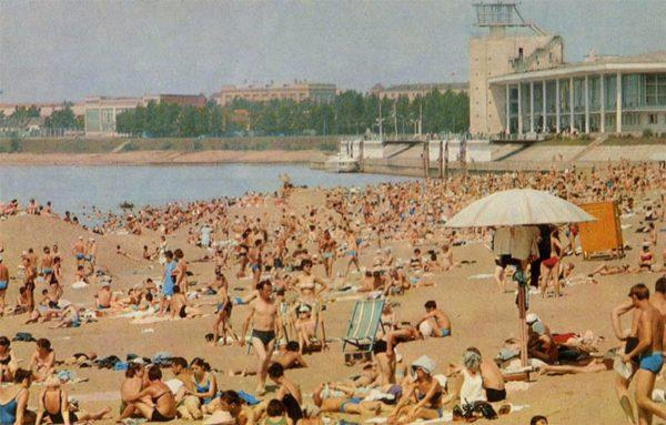 Beach. Omsk, 1971