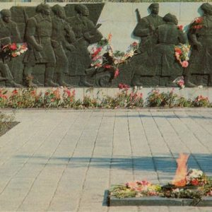 "A fragment of the memorial complex ""Fighters who fell for Soviet power."" Omsk, 1971"