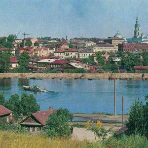 Вид на город со стороны Кинешемки. Кинешма, 1971 год