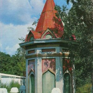 Часовня на братоской могиле кинешемцев, погибших в 1609 году. Кинешма, 1971 год
