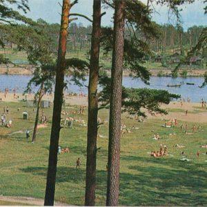 Kineshemke beach on the river. Kineshma, 1971