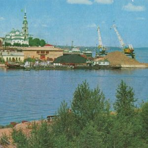 Pier on the Volga. Kineshma, 1971