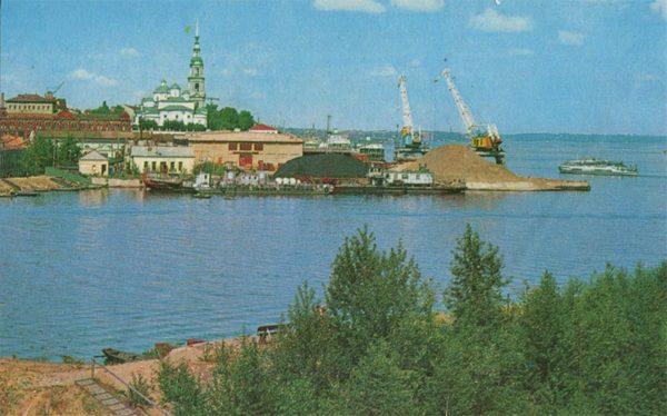 Пирс на Волге. Кинешма, 1971 год