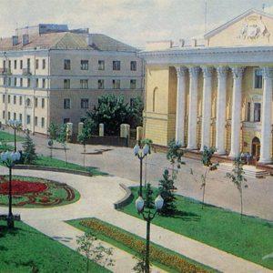 Derzhavinskaya Street. House of political education. Tambov, 1982