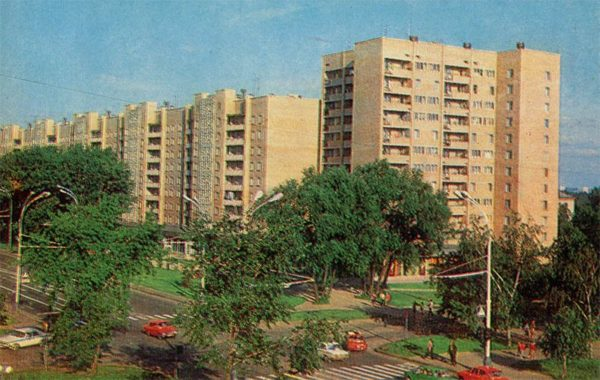 Улица Интернациональная. Тамбов, 1982 год