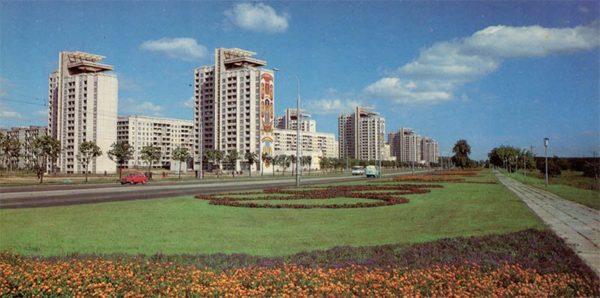 Ленинский проспект. Минск, 1983 год