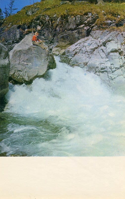 Таежная река Кынгарга. Байкал, 1971 год