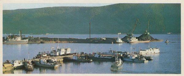 В порту. Николаевск-на-Амуре, 1975 год