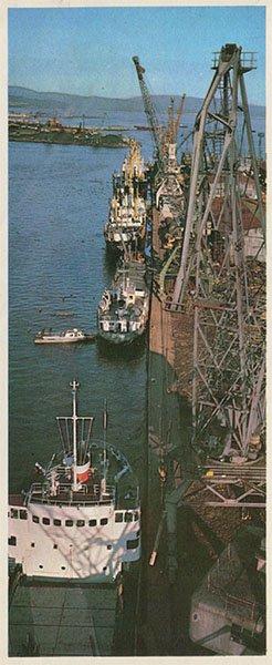 Грузовой порт. Николаевск-на-Амуре, 1975 год
