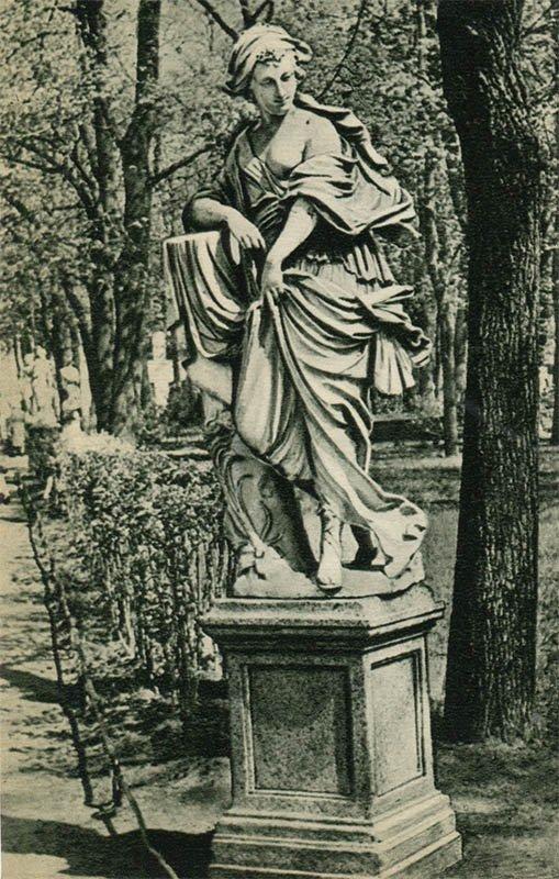 "Summer garden, 1969 Statue ""Nymph"". """