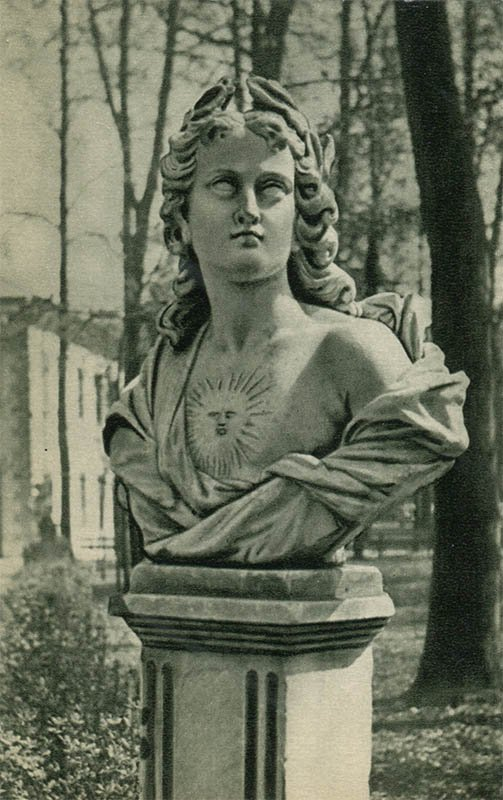"""Day"" bust. Summer garden, 1969"