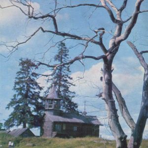 Chapel in the village of Sparrows. Kizhi, 1970
