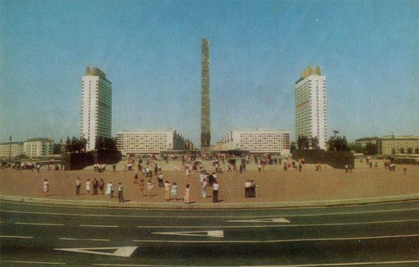 Площадь Победы. Ленинград, 1976 год