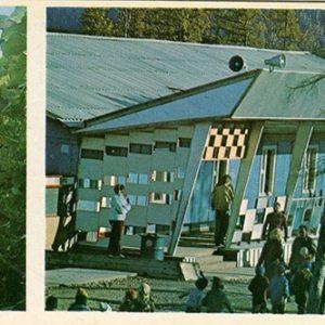 Кафе в поселке Лапри. БАМ, 1979 год