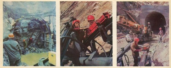 Work at the portal of the Baikal tunnel. ASB, 1978