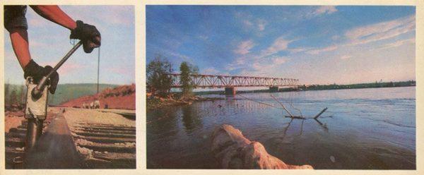 Kirenga bridge over the river. ASB, 1978