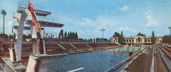 """Swimming pool """"Dynamo"""". Kharkov, 1971"""