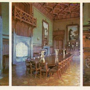 Парадная столовая. Алупкинский дворец-музей. Крым, 1983 год
