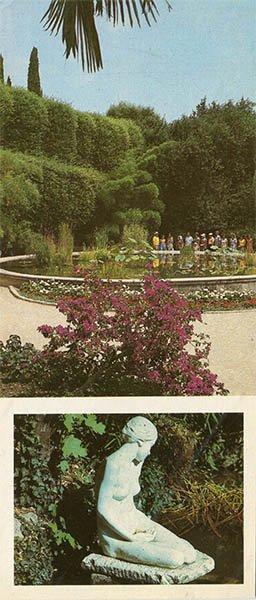 Pool for aquatic exotic species in the Lower Park. Nikita Botanical Garden, 1986