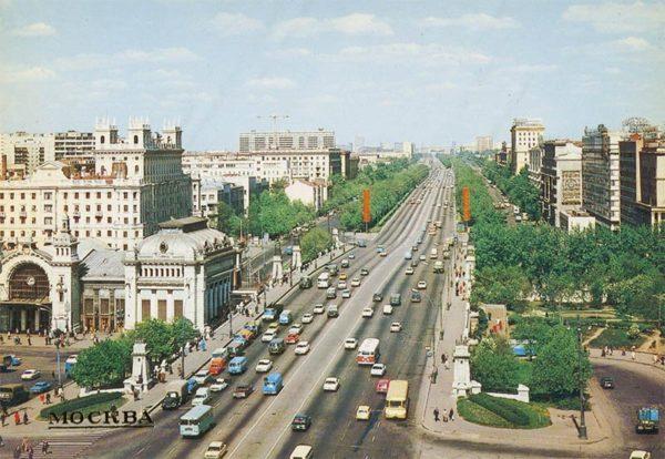 Ленинградский проспект. Москва, 1984 год