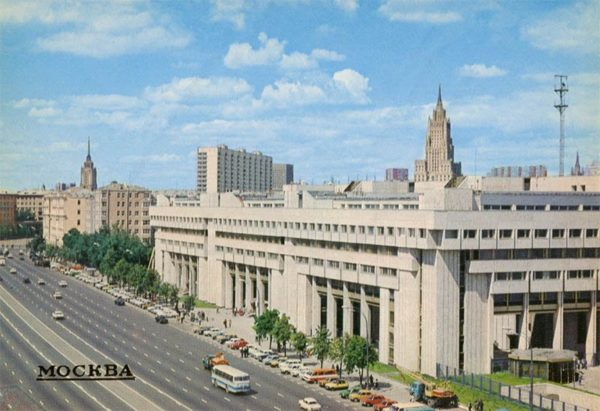 "Здание агентства печати ""Новости"". Москва, 1984 год"