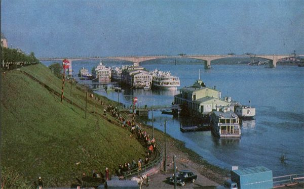 Пристань на Волге. Ярославль, 1967 год