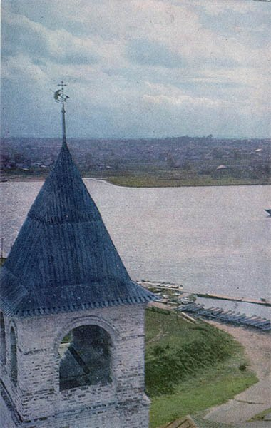 Вид на реку Которосль. Ярославль, 1967 год