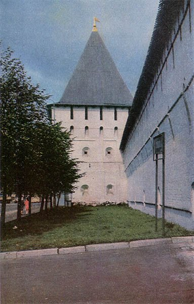 Богородская башня Спасского монастыря. Ярославль, 1967 год