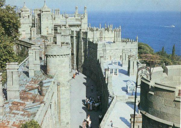 Shuvalov travel. View from above. Alupka Palace-Museum. Crimea, 1988