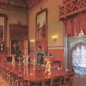 Парадная столовая. Интерьер. Алупкинский дворец-музей, 1988 год