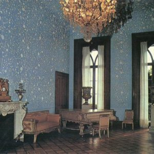 Blue lounge. Interior. Alupka Palace-Museum. Crimea, 1988
