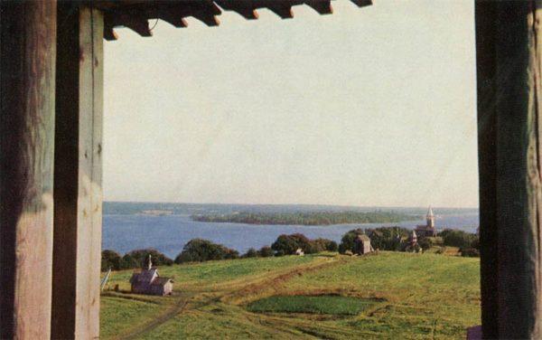 Вид на южную часть острова Кижи, 1970 год