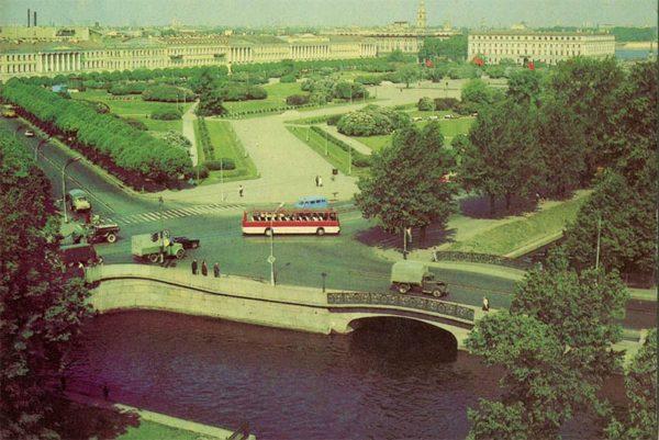 Марсово поле. Ленинград, 1984 год