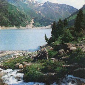 Больше Алма-Атинское озеро. Алма-Ата, 1984 год