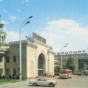 An airport. Alma-Ata, 1984