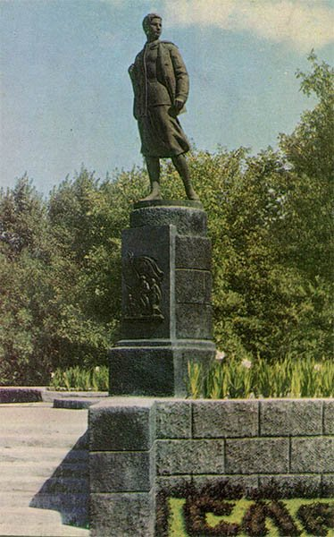 Памятник Зое Космодемьянской. Тамбов, 1967 год