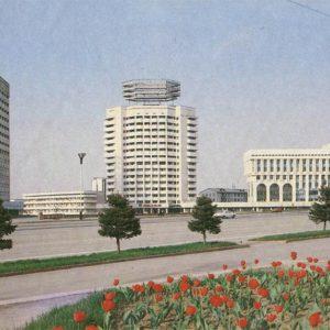 Новая площадь. Алма-Ата, 1983 год