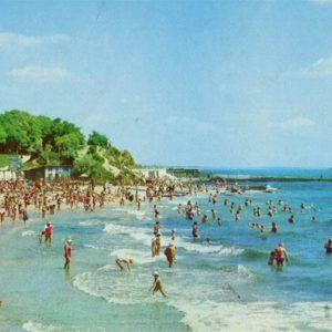Beach in Arcadia. Odessa, 1981