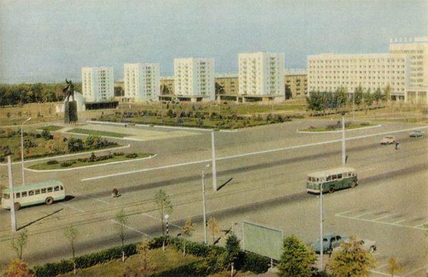 Комсомольская площадь. Уфа, 1970 год